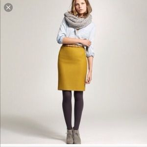 J. Crew double serve wool no 2 pencil skirt